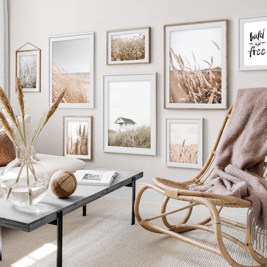 Reeds Wheat House Leaf Nordic Posters