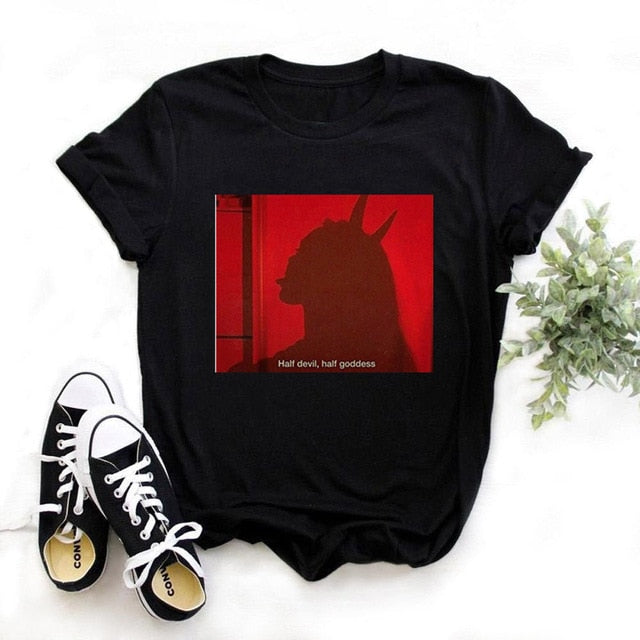 Women Demon Funny 90s Graphic T-shirt