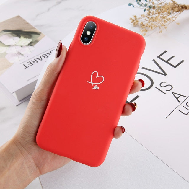 Lovebay Colorful Love Heart Phone Case For iPhone