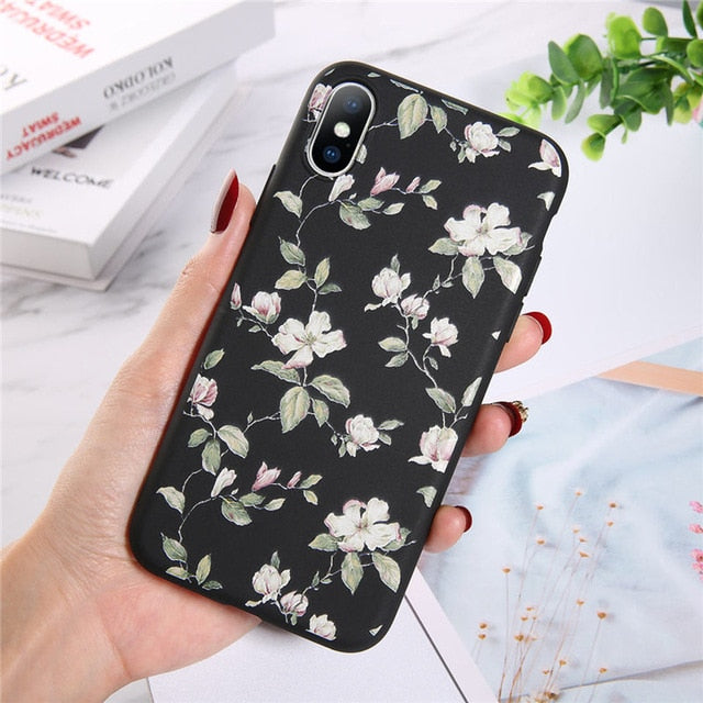 Moskado Colorful Floral Leaves Phone Case For iPhone