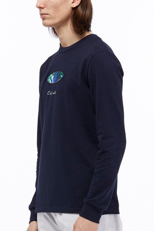 LOGO LONG SLEEVE - NAVY BLUE