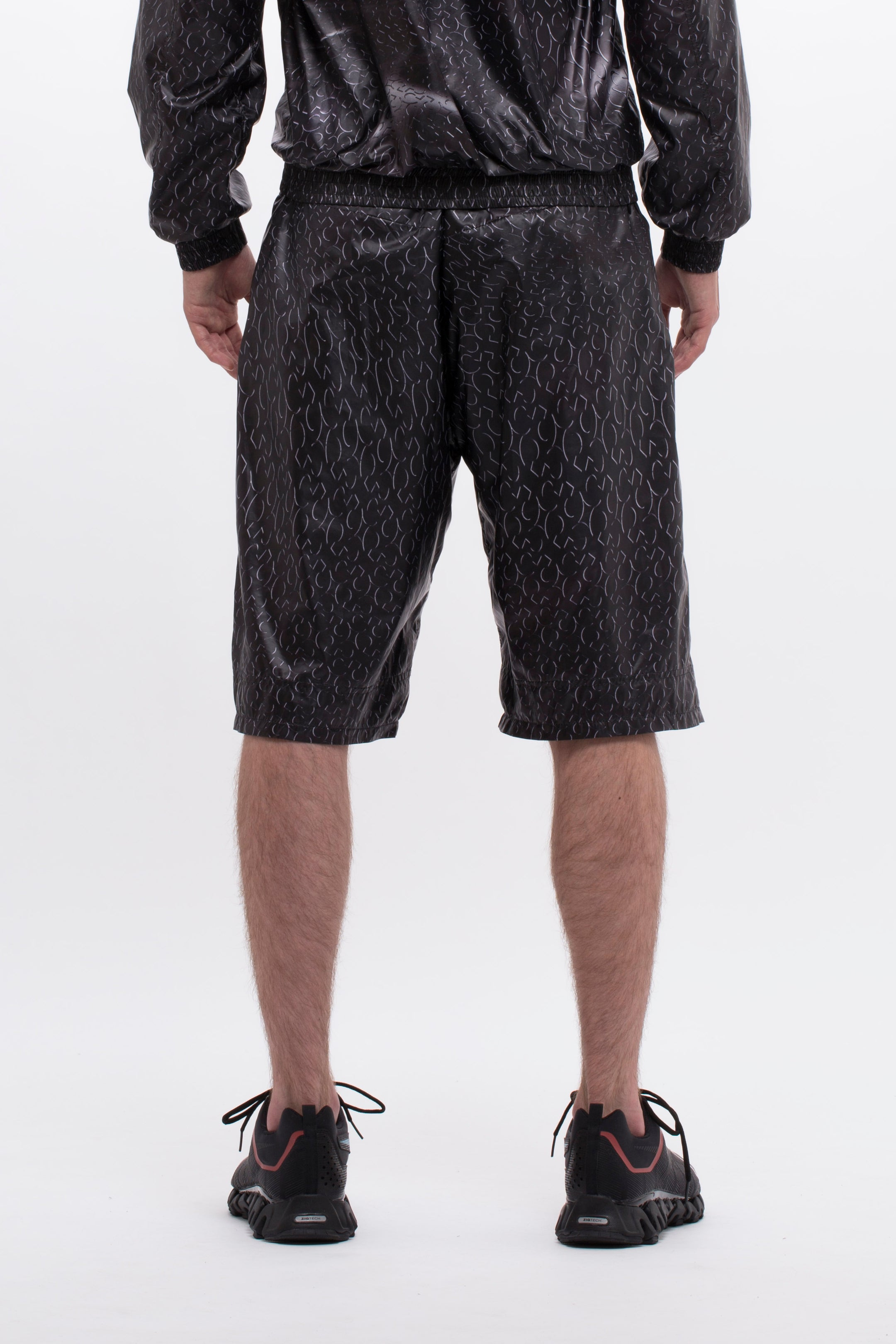 MONOGRAM SHORTS - BLACK