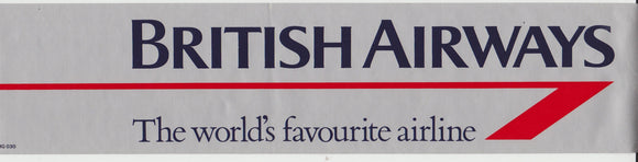 British Airways 'Landor' Livery Car Window Sticker (non adesive)