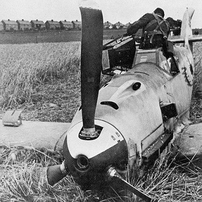 ME 109 G Luftwaffe crashed - 6 x 4 Print LUFT003