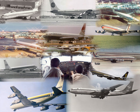 BOEING 707 AIRCRAFT -  A4 Collage Print COL707