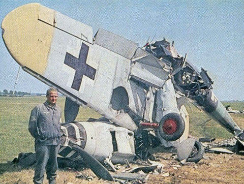 ME 109 G Luftwaffe crashed - 6 x 4 Print LUFT004