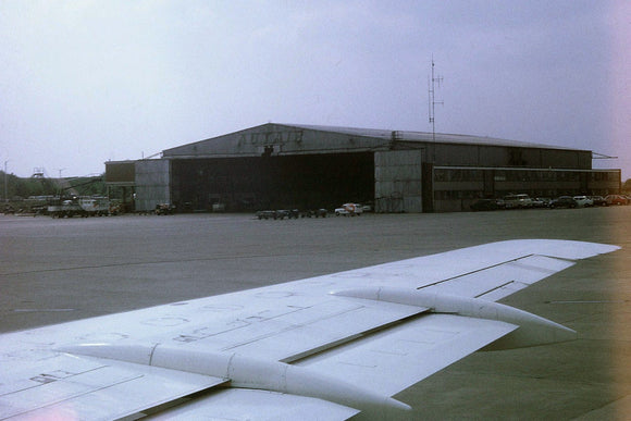 Autair International / Court Line Hangar taken from Court BAC 111 1970 - ORIGINAL SLIDE