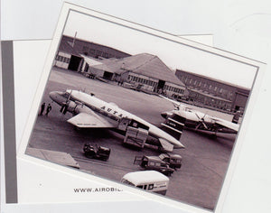 Autair International Airways Vickers Viking G-AHPB and Ambassador Postcard