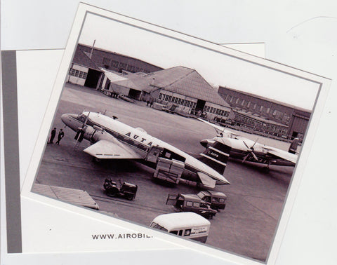 Autair International (Court Line)  Postcard (unused) Vickers Viking and Airspeed Ambassador