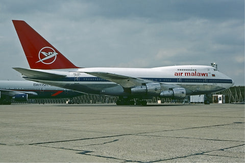 AIR MALAWI Boeing 747SP -  6 x 4 Print AM001