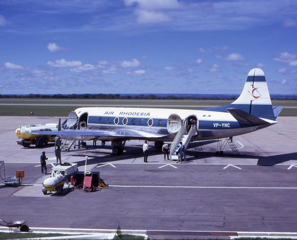 AIR RHODESIA Vickers Viscount 748D YP-YNC -  6 x 4 Print AG001