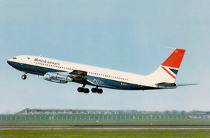 British Airways Boeing 707 G-AYLT  -  6 x 4 Print BA008