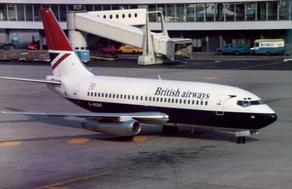 British Airways Boeing 737 G-BDGE AMSTERDAM  -  6 x 4 Print BA011