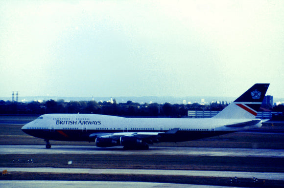 British Airways Boeing 747 in Landor Livery Heathrow - ORIGINAL SLIDE