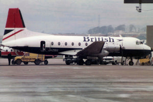 British Airways Hawker Siddele HS 748 G-ASZU Glasgow 6 x 4 Print BA056