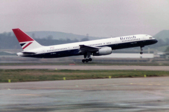 British Airways Boeing 757 G-BIKJ Glasgow 6 x 4 Print BA057