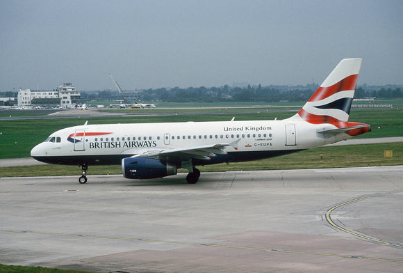 British Airways Airbus A320 G-EUPA Heathrow - ORIGINAL SLIDE