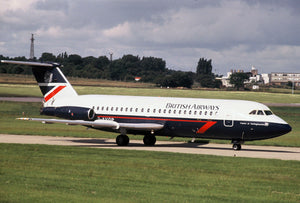 British Airways BAC 111 G-AVGP at Birmingham - ORIGINAL SLIDE