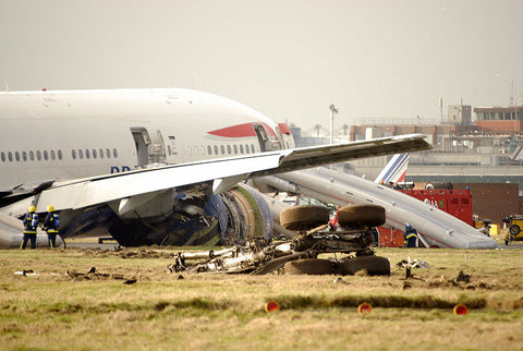 British Airways Boeing 777 G-YMMM Accident Heathrow 17 Jan 2008 - 6 x 4 Print BA061