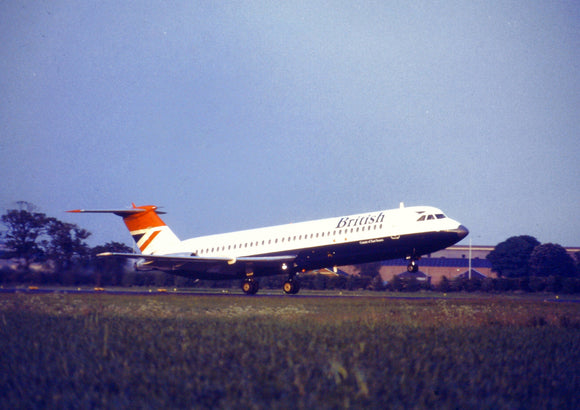British Airways BAC 111 500 departing  - ORIGINAL SLIDE