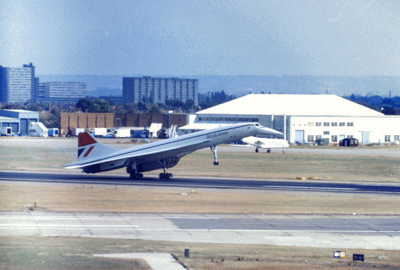 British Airways Concorde G-BOAA arriving Miami -  6 x 4 Print BA025