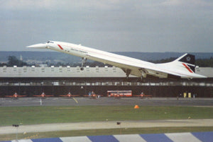 British Airways Concorde G-BOAA Farnborough Airshow Landor Livery -  6 x 4 Print BA026