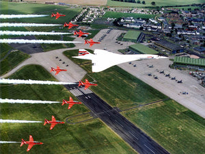 British Airways Concorde G-BOAA with RAF Red Arrows -  6 x 4 Print BA028
