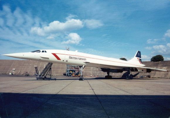 British Airways Concorde G-BOAF Heathrow Maintenance-  6 x 4 Print BA044