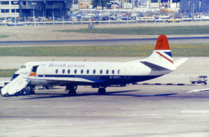 British Airways Vickers Viscount G-AOYL at Heathrow - ORIGINAL SLIDE