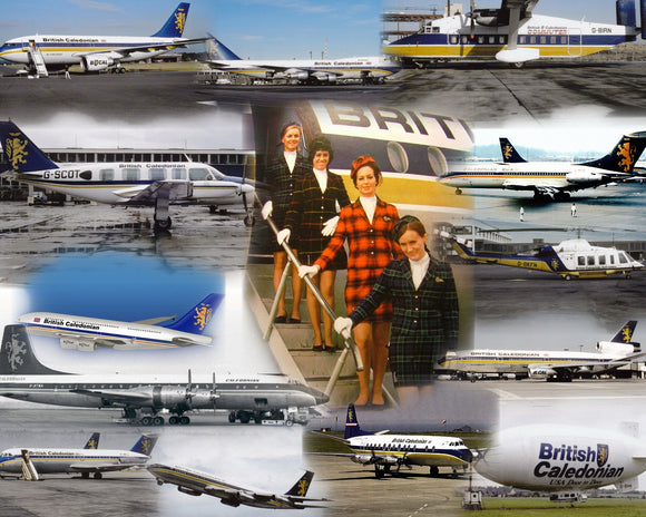 BCAL BRITISH CALEDONIAN  -  A4 Collage Print BR001
