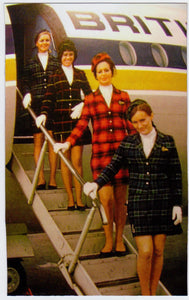 BCAL British Caledonian Stewardess Cabin Crew with BAC 111 Fridge Magnet