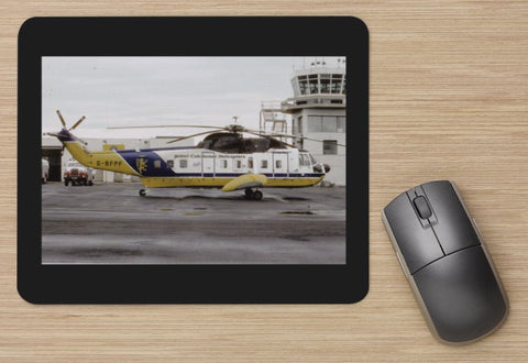 BCAL British Caledonian Airways  S-61 Helicopter aircraft MOUSE MAT