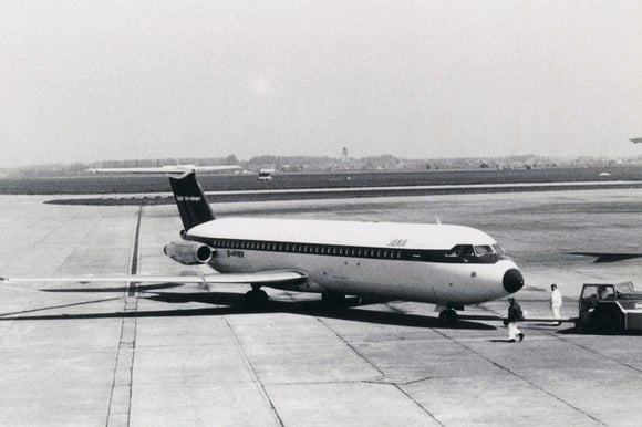 BEA BAC 111 G-AVMN BRUSSELS -  6x4 Print BE020