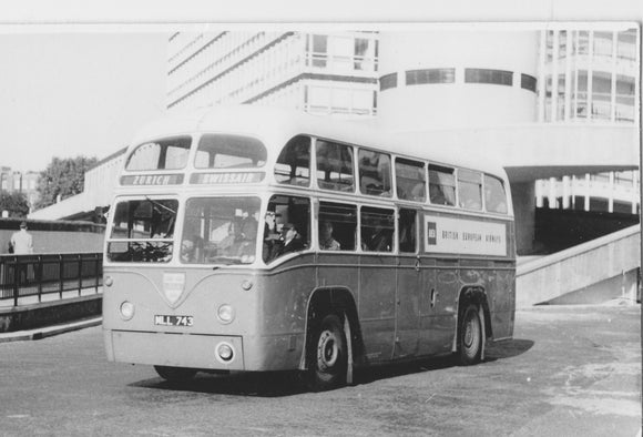 BEA Passenger Bus Leaving WLAT-  6x4 Print BE028
