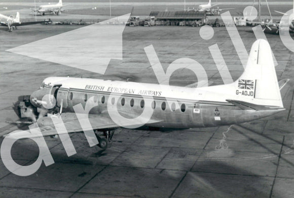 BEA Vickers Viscount G-AOJD Heathrow -  6x4 Print BE005