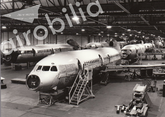 BEA Hawker Siddeley Trident 1E G-ARPM at Hatfield Factory -  6x4 Print BE010