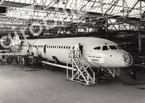 BEA Hawker Siddeley Trident 3B First Aircraft at Hatfield Factory -  6x4 Print BE011