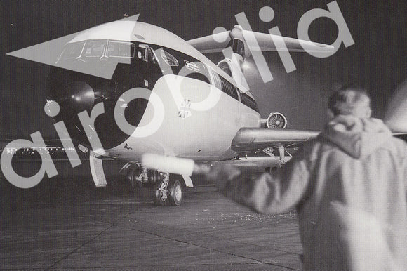 BEA Hawker Siddeley Trident 1E at night -  6x4 Print BE007