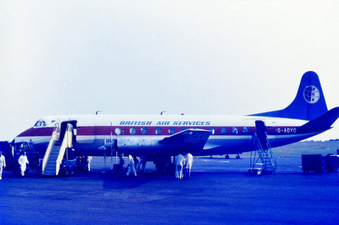BKS British Air Services Vickers Viscount G-AOYO  - ORIGINAL SLIDE
