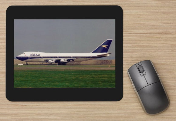 BOAC Boeing 747 Heathrow aircraft MOUSE MAT