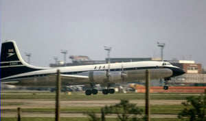 BOAC Bristol Britannia G-AOVT DEPARTING HEATHROW   6 x 4 Print