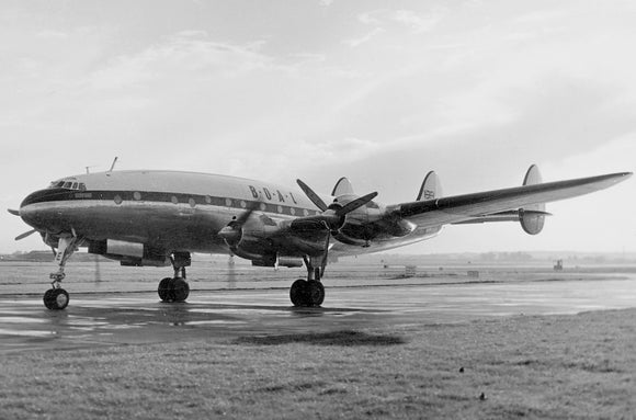 BOAC Lockheed Constellation G-AKCE -  6 x 4 Print BO017