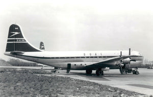BOAC Boeing Stratocruiser G-ALSB Blue Tail Livery  -  6 x 4 Print BO003