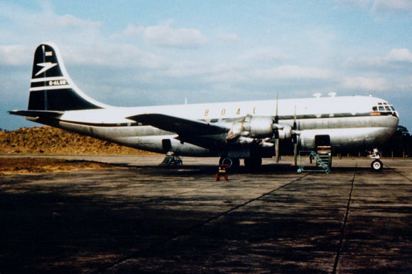 BOAC Boeing Stratocruiser G-ALSB Blue Tail Livery  -  6 x 4 Print BO004