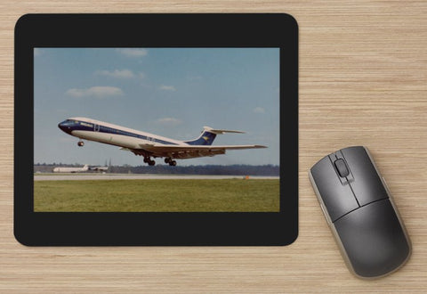 BOAC Vickers VC10 departing aircraft MOUSE MAT