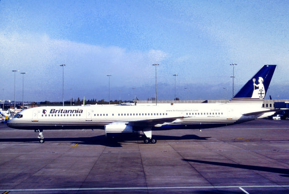 BRITANNIA AIRWAYS Boeing  757 G-BYAH - ORIGINAL SLIDE