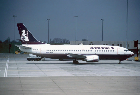 BRITANNIA Airways Boeing 737 G-BLKD at Birmingham  - ORIGINAL SLIDE