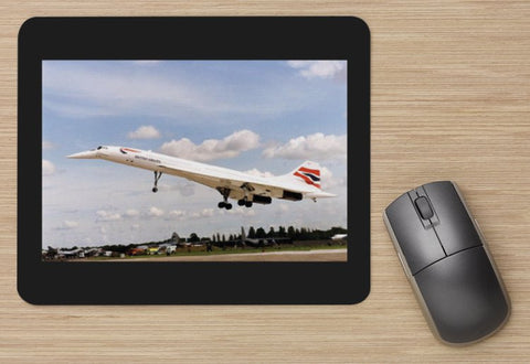 British Airways Concorde landing 2 aircraft MOUSE MAT