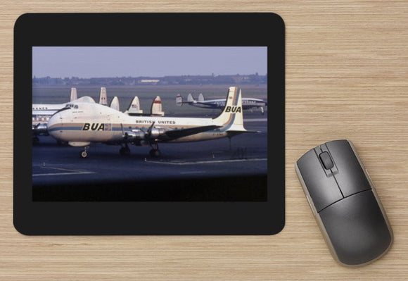 BUA British United Airways  Carvair cargo aircraft - MOUSE MAT