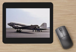 BUA British United Airways  Douglas DC3 Dakota  aircraft - MOUSE MAT